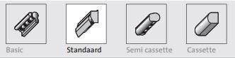 types knikarmschermen standaard